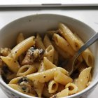 A mushroom, garlic and cheese sauce with penne