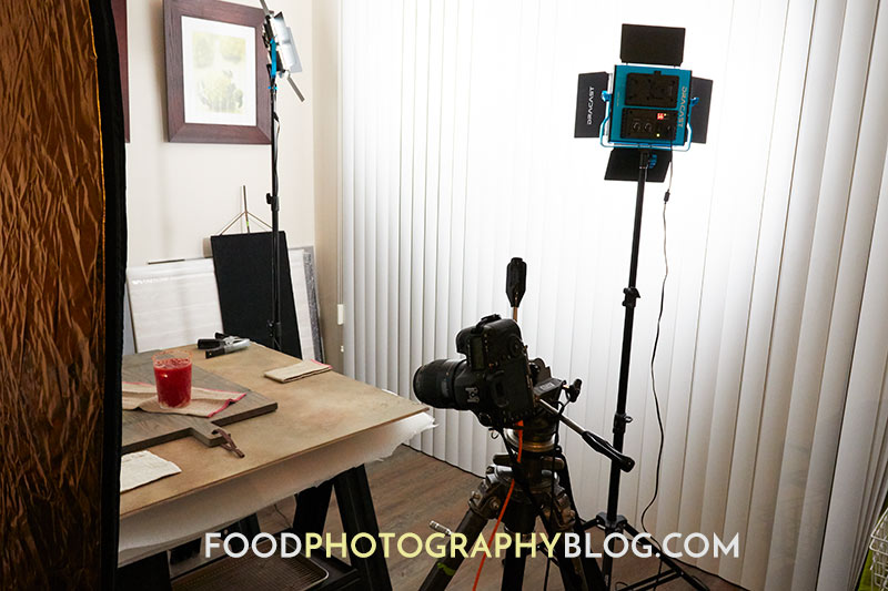 artificial light with food photography