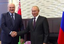 Russia's Putin offers Belarus leader Alexander Lukashenko money but says protests must be resolved without interference
