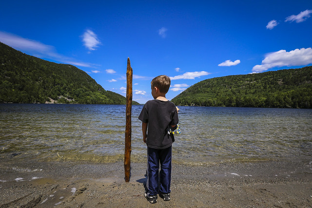The Trick He Does. Long Pond, Acadia National Park, Maine