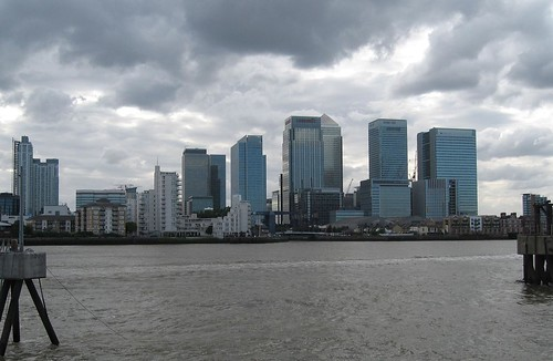 Gathering Storm over Canary Wharf & Isle of Dogs